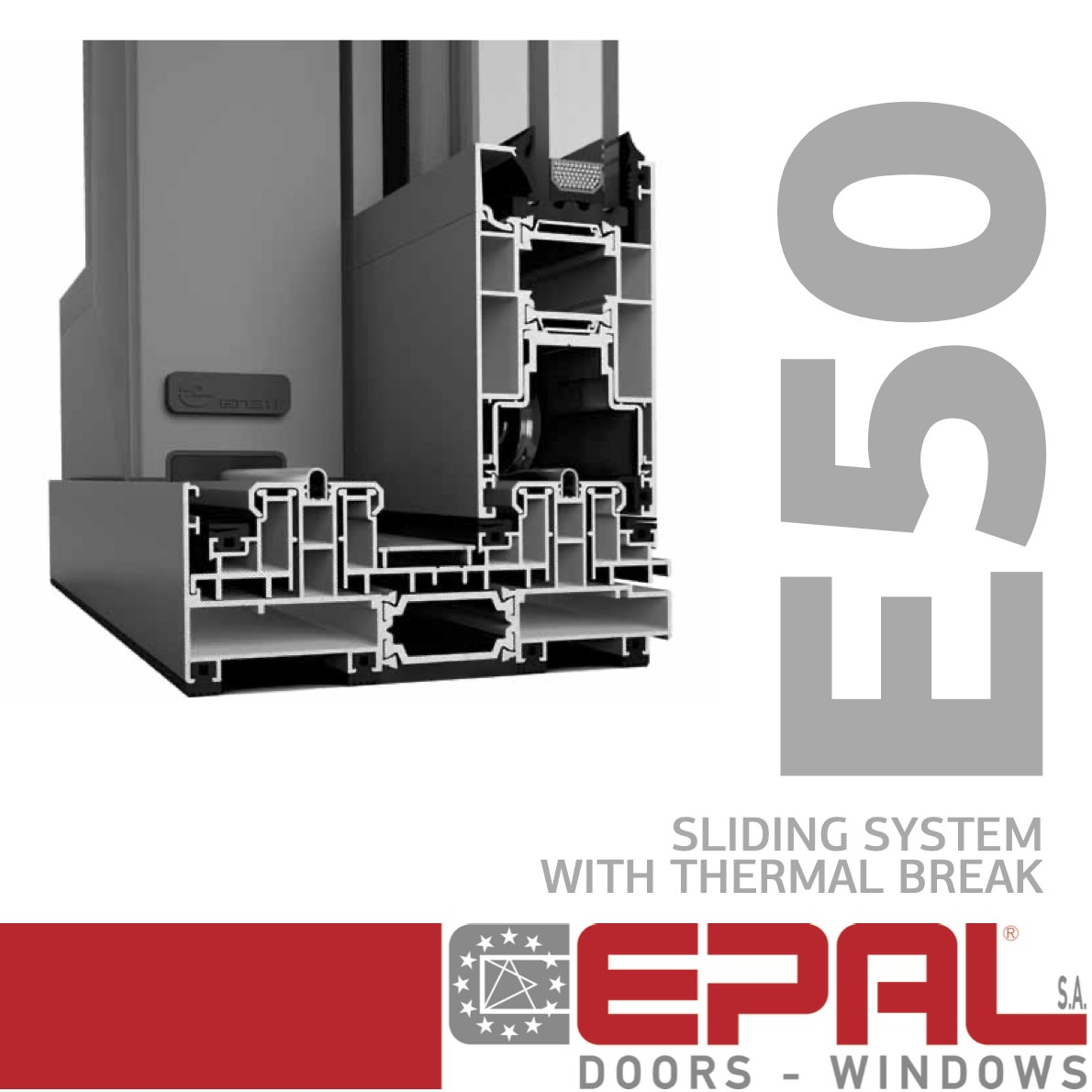 E50 - Sliding System with Thermal Break